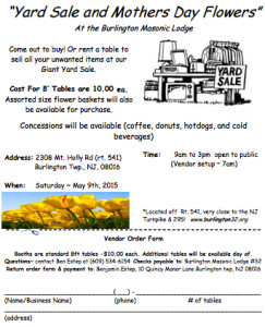 2015 flower and yard sale